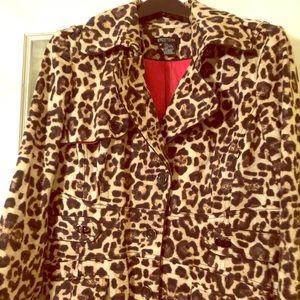 Fabulous Leopard Print Coat by Etcetera 16 XL